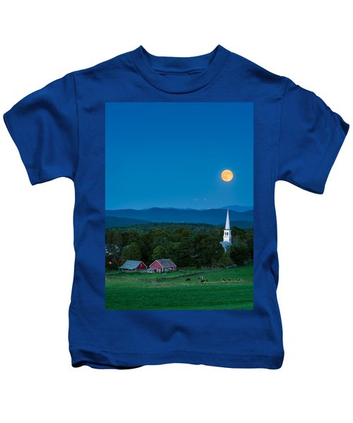Pointing At The Moon Kids T-Shirt