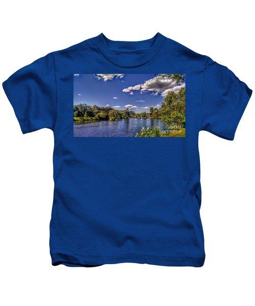 Pond At Verona Park Kids T-Shirt