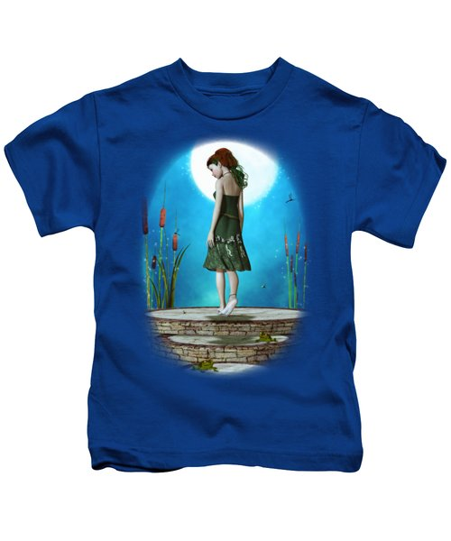 Pond Of Dreams Kids T-Shirt by Brandy Thomas