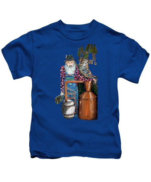 Popcorn Sutton Moonshiner -t-shirt Transparrent Kids T-Shirt