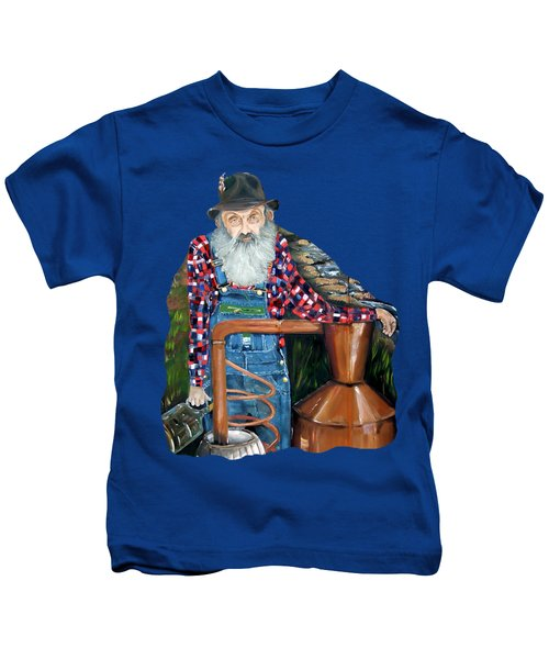 Popcorn Sutton Moonshiner - Tshirt Transparent Torso Kids T-Shirt