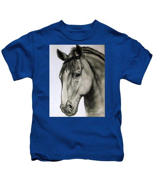 Portrait Of A Horse Kids T-Shirt