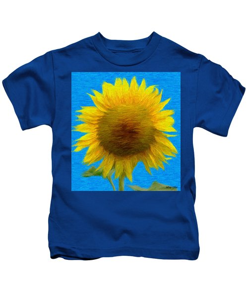 Portrait Of A Sunflower Kids T-Shirt