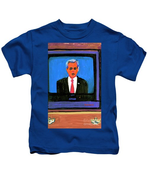 President George Bush Debate 2004 Kids T-Shirt by Candace Lovely