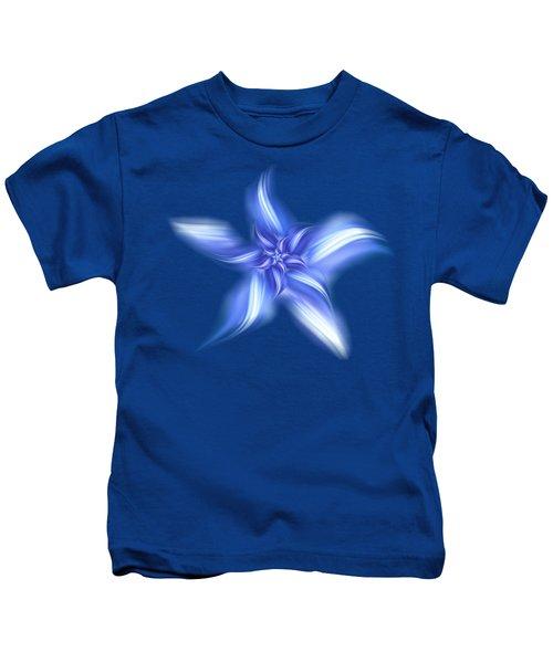 Pretty Blue Flower Kids T-Shirt