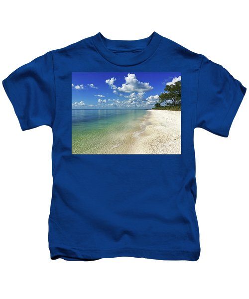 Puffy White Clouds At Delnor-wiggins Kids T-Shirt