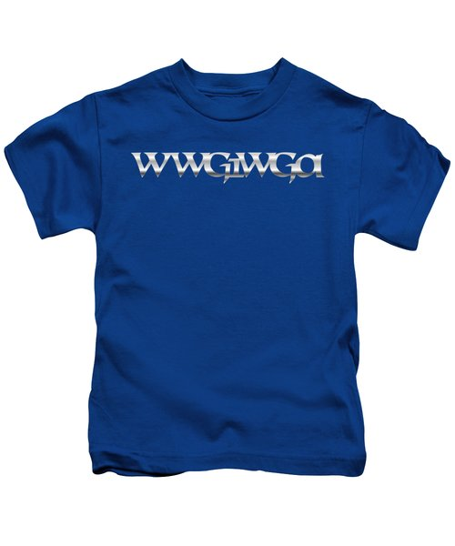 Qanon Wwg1wga Blue Kids T-Shirt