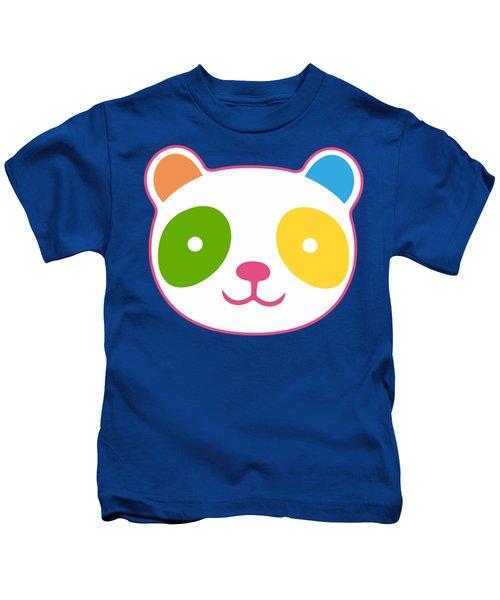 Rainbow Panda Kids T-Shirt
