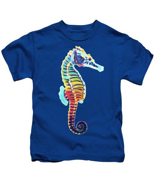 Rainbow Seahorse Kids T-Shirt