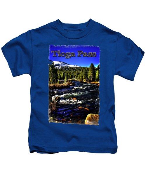 Rapids Along The Tioga Pass Road Kids T-Shirt by Roger Passman