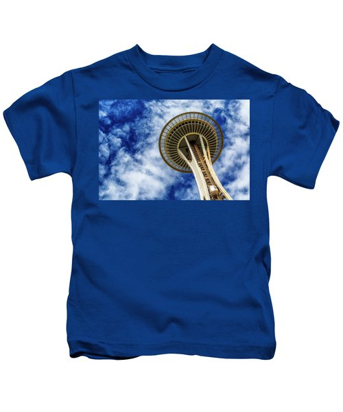 Reach For The Sky - Seattle Space Needle Kids T-Shirt