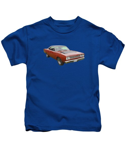 Red 1968 Plymouth Roadrunner Muscle Car Kids T-Shirt by Keith Webber Jr
