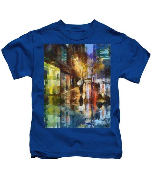 Reflection In The Rain Kids T-Shirt