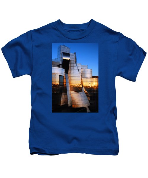 Reflections Of Sunset Kids T-Shirt by James Kirkikis