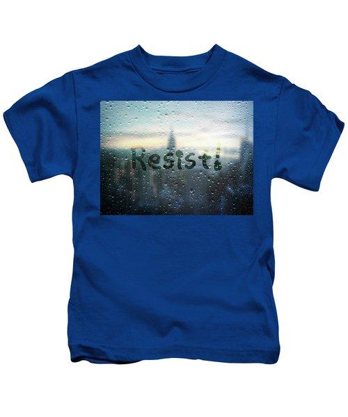 Resistance Foggy Window Kids T-Shirt