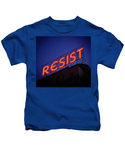 Resistance Neon Lights Kids T-Shirt