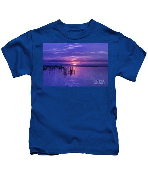 Rest Well World Purple Sunset Kids T-Shirt