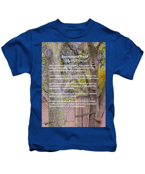 Reverence Of Trees Kids T-Shirt