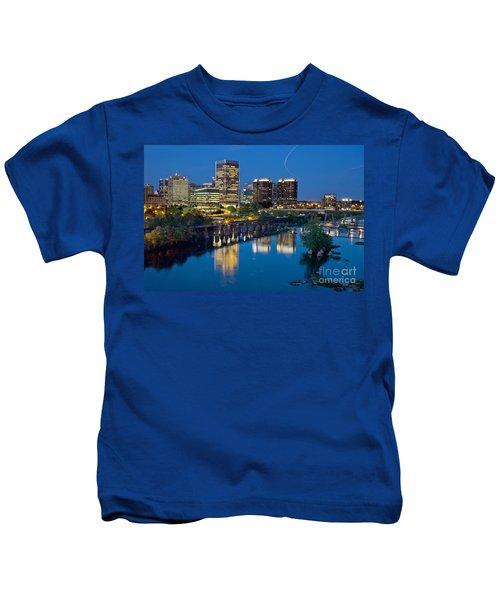 Richmond Skyline Helo Trail Kids T-Shirt
