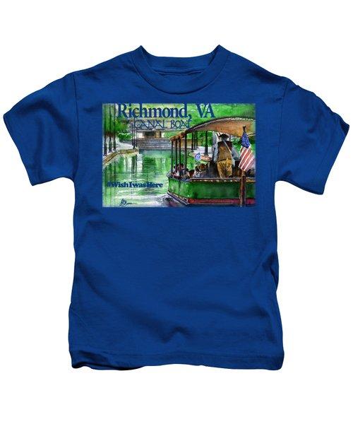Richmond Va Canal Boat Kids T-Shirt