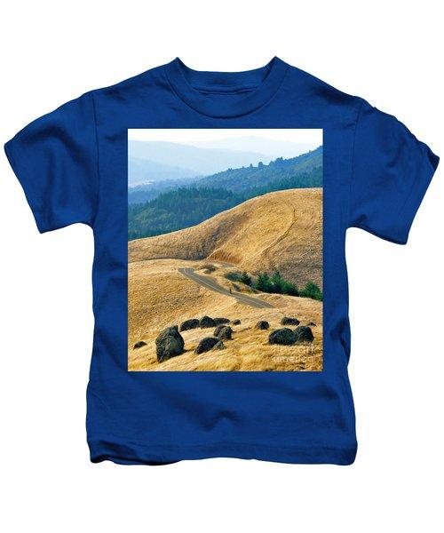 Riding The Mountain Kids T-Shirt
