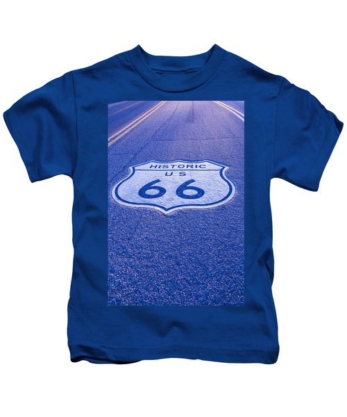 Road Sign Route 66 Kids T-Shirt