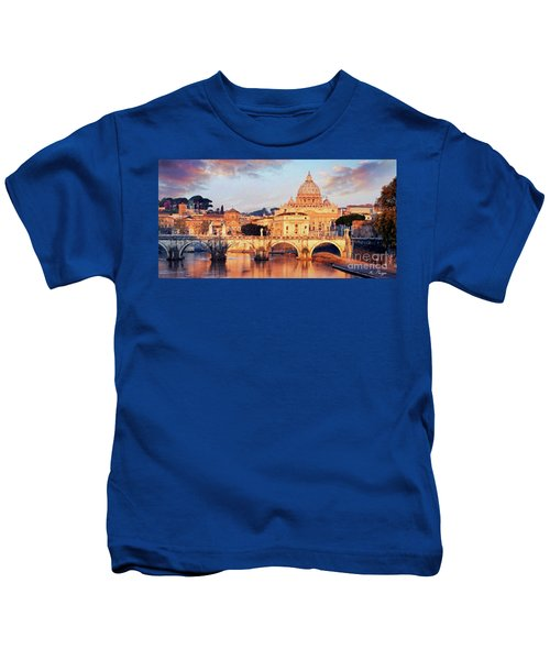 Rome The Eternal City - Saint Peter From The Tiber Kids T-Shirt