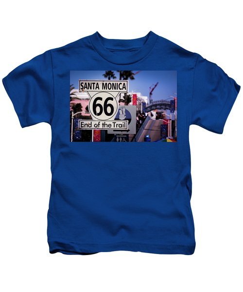 Route 66 End Of Trail Kids T-Shirt