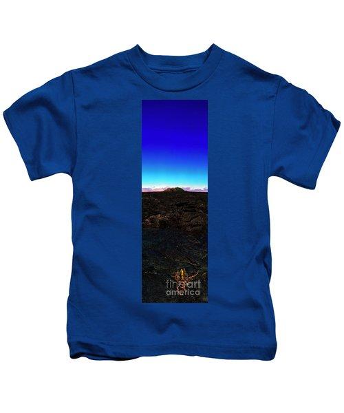 Saddle Road Humuula Lava Field Big Island Hawaii  Kids T-Shirt