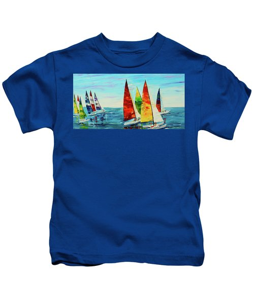 Sailboat Race Kids T-Shirt