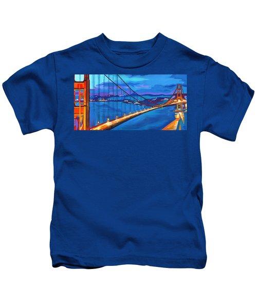 San Francisco Bay Blues  Kids T-Shirt