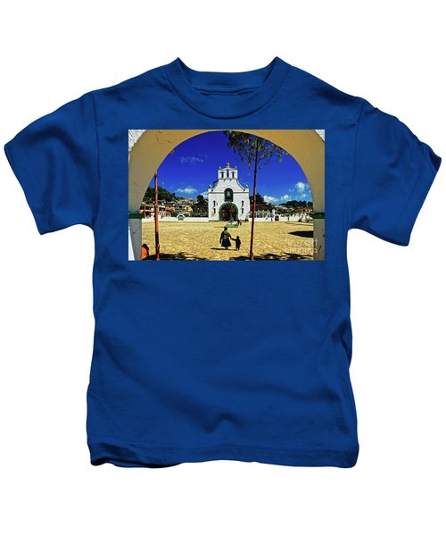 Kids T-Shirt featuring the photograph San Juan Chamula Church In Chiapas, Mexico by Sam Antonio Photography