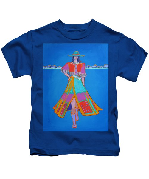 Santa Fe Girl  Kids T-Shirt