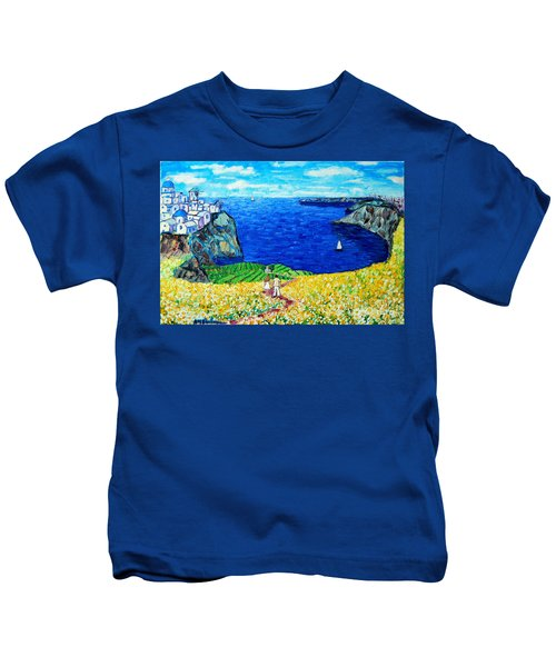 Santorini Honeymoon Kids T-Shirt