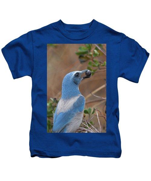 Scrub Jay With Acorn Kids T-Shirt