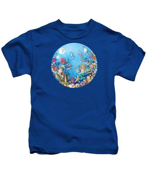 Sculpted Mermaid Sea World Kids T-Shirt