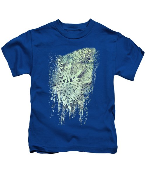 Sea Of Flakes Kids T-Shirt by AugenWerk Susann Serfezi
