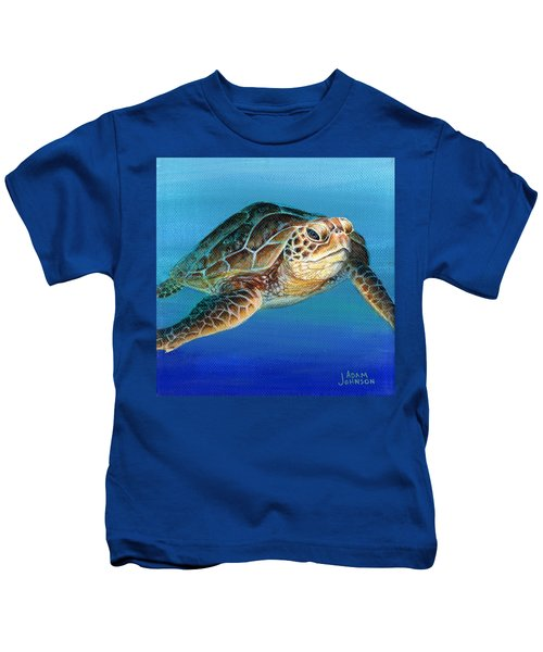 Sea Turtle 1 Of 3 Kids T-Shirt