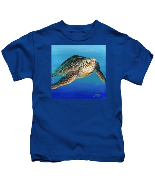 Sea Turtle 1 Of 3 Kids T-Shirt