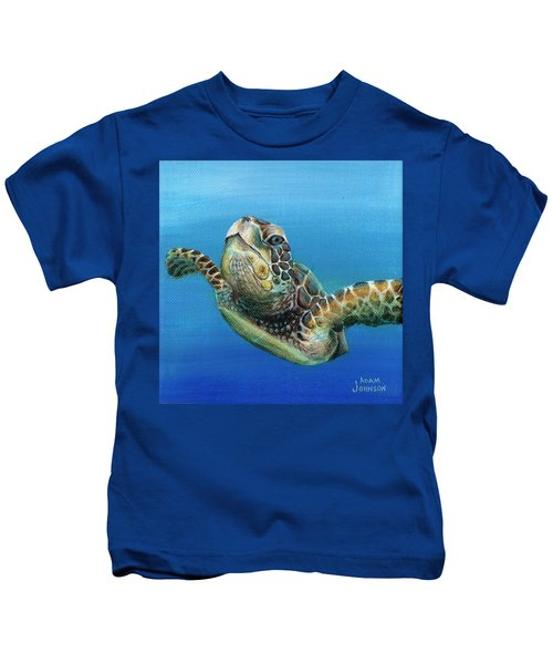 Sea Turtle 3 Of 3 Kids T-Shirt