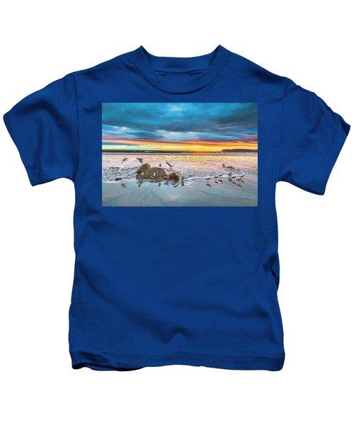 Seagull Sunset Kids T-Shirt