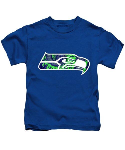 Seahawks Fractal Kids T-Shirt
