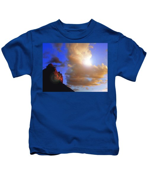Sedona Mountain Cloud Sun Kids T-Shirt