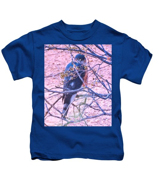 Sharp-shinned Hawk Hunting In The Desert 2 Kids T-Shirt