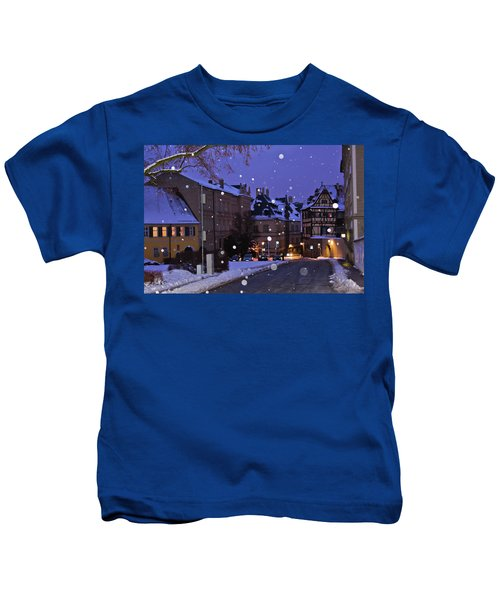 Silent Night In Bamberg, Germany #2 Kids T-Shirt
