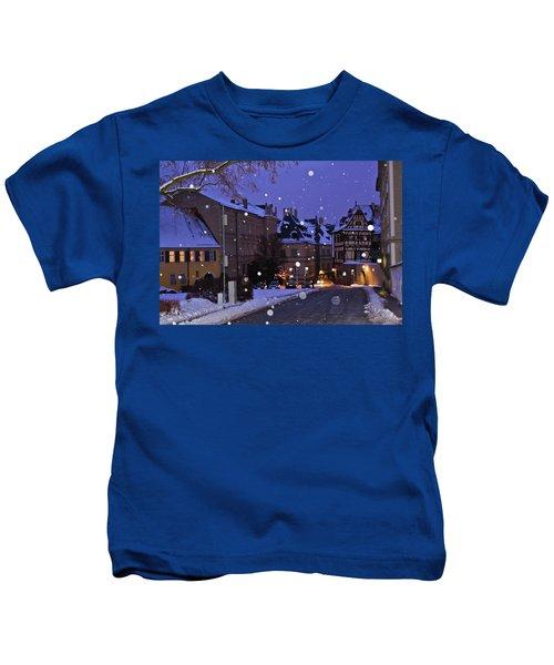 Silent Night In Bamberg, Germany #2 Kids T-Shirt