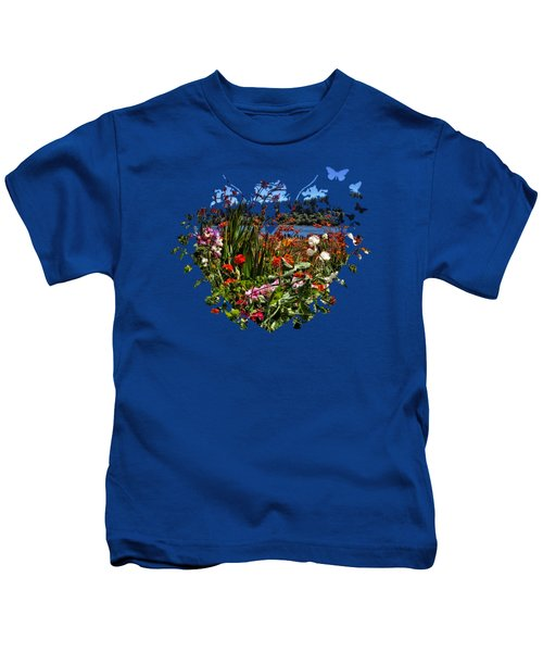 Siuslaw River Floral Kids T-Shirt by Thom Zehrfeld