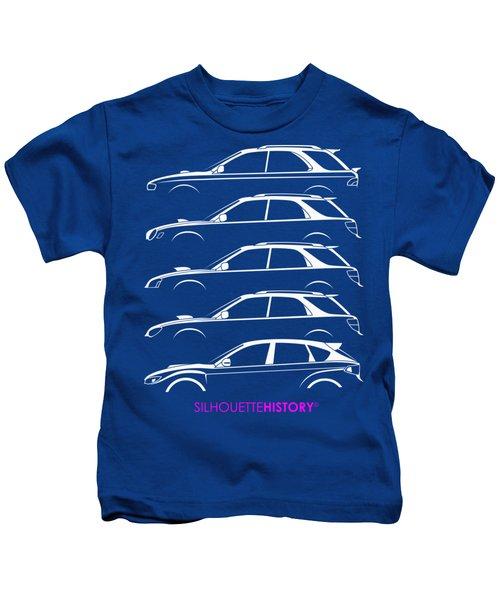 Six Stars Hatch Silhouettehistory Kids T-Shirt