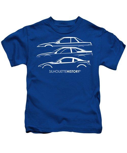 Six Stars Sports Coupe Silhouettehistory Kids T-Shirt
