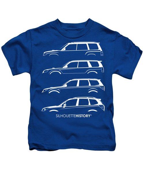 Six Stars Suv Silhouettehistory Kids T-Shirt